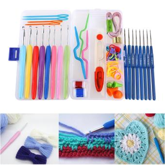 NUOLUX 16pcs Soft Grip Handle Aluminum Crochet Hooks KnittingNeedles (Random Color) - intl Price Philippines