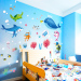Ocean fish Cartoon children's room bedroom bathroom sticker wall stickers