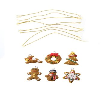 OEM Cute 6-piece Polymer Clay Fimo Xmas Christmas Decor Gift (Intl) - picture 2