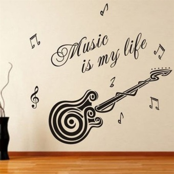 OH Music is my life Guitar Pattern Vinyl Decal Sticker Wall DecalsHome Decor Price Philippines