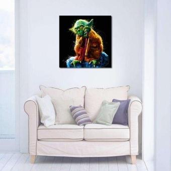 Oil Painting Wall Painting Home Decor Picture Art Canvas Yoda Wall Art Decor - intl