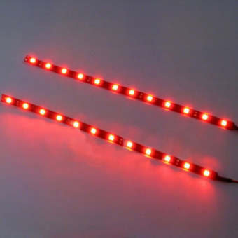 Okdeals 2Pcs 12 LEDs 5050 SMD LED Strip Light Red