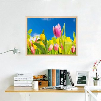 Oly LA015-1 tulip 30x45cm 5D Diamond Painting Round DIY CrossStitch Crystal Wall Art Pictures Decorative Gift Full DiamondEmbroidery giving - intl Price Philippines