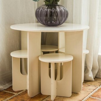 One Piece European Style Mini Creative Home Coffee Table Stool - intl - 3