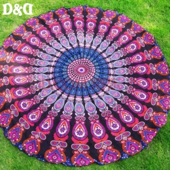 Oneline Women Fashion Style Printed Round Beach Towel