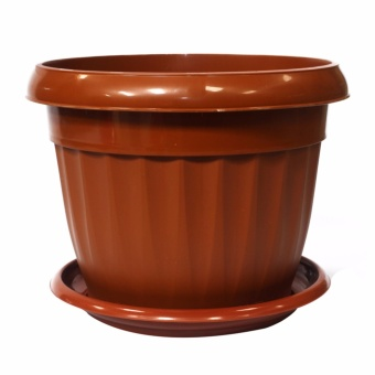 Oriental 1103 Flower Pot Round Large (Brown)