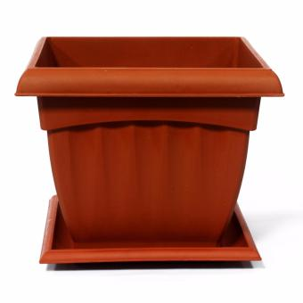 Oriental 2203 Flower Pot Square Large (Brown)