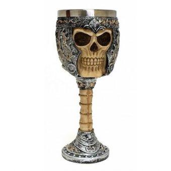 Ossuary Style Skeletal Skull Wine Goblet Bones Skull Armor Cup - Orcskull Cup