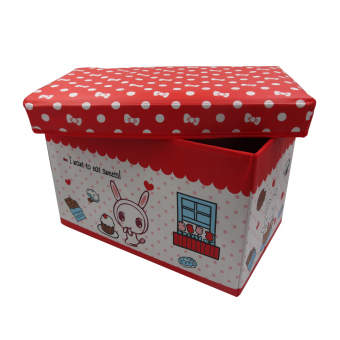 Ottoman Kids Sweet Bunny Storage Box (Red) - picture 2