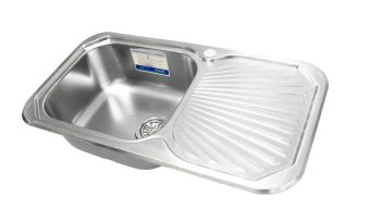 Oulin OL-307R Kitchen Sink (Silver) with FREE Sink Tap - 2
