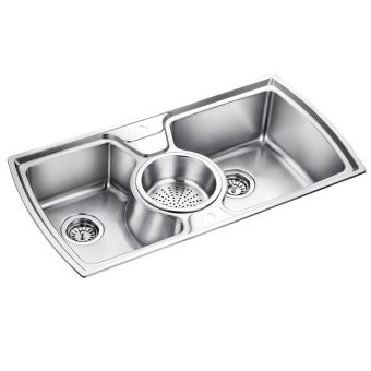 Oulin OL-321 Kitchen Sink (Silver) with FREE Sink Tap