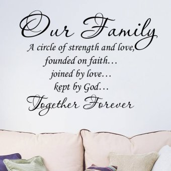 Our Family PVC Removable Room Decal Art DIY Wall Sticker Home Decor