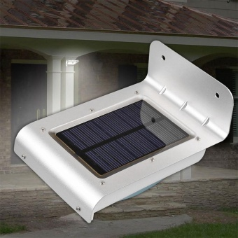 Outdoor 24 LED Motion Sensor Solar Lights, Waterproof Solar PoweredWall Lamp, Wide Angle Night Light for Garden Patio Path Gutter DeckColor:White Power:One - intl