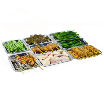 Outdoor Barbecue Tool Thicken Stainless Steel BBQ Grill Tray DripPan - Intl - 5