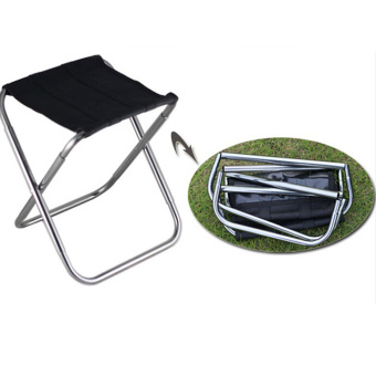 Outdoor Folding Fold Aluminum Chair Stool Seat Fishing Camping withCarry Bag - intl