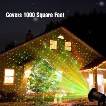 Outdoor IP65 Waterproof Star Projector Laser Light Garden Christmas Decor+Remote - intl