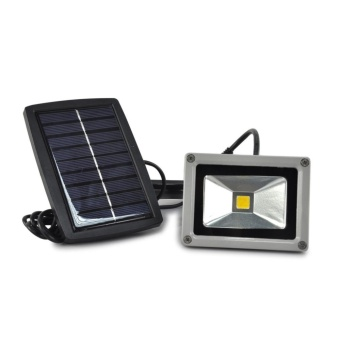 Outdoor Lamps 10W Solar Power LED Flood Night Light GardenSpotlight Floodlight - intl