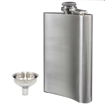 Outdoor Portable 8 OZ Stainless Steel Hip Liquor Flask with Small Funnel