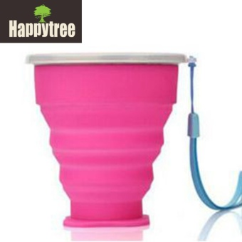 Outdoor Travel Hiking Portable Silicone Retractable Folding Cup
