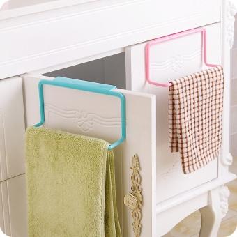 Over Door Tea Towel Rack Rail Kitchen Cabinet Bar Hanging Cupboard Hanger Shelf(Color:Green) - intl - 2