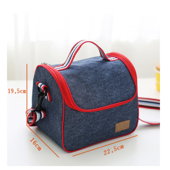 Oxford Cloth insulated security and cold lunch bag container bag