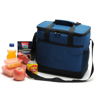 Oxford Cloth Lunch Box Outdoor Cold Storage Fresh Keeping Picnic Bag (Navy Blue)