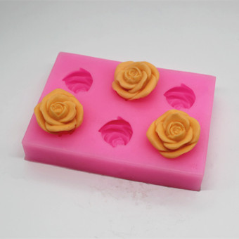 P157 chocolate new rose sugar soap Mold