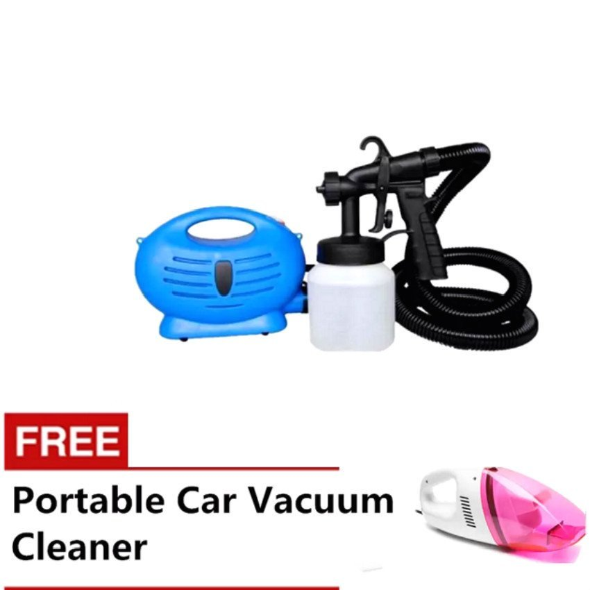 Paint Zoom Sprayer (Blue) With Free Portable Car Vacuum Cleaner(Pink)