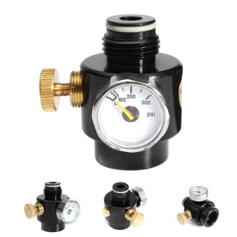 Paintball Co2 & High Pressure Compress Air Tank Regulator Valve 0-200psi - intl