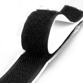 Pair Black Self Adhesive Hook and Loop Velcro Fastener Tape 200cm