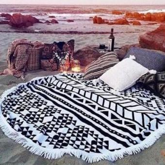 PAlight Clothes Round Hippie Tapestry Beach Throw Roundie Mandala Towel Yoga Mat Bohemian Scarf Best Sale - intl