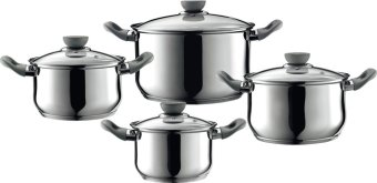 Palmer 8pc Stainless Steel Cookware Set with Glass Lid and BakeliteHandles Price Philippines