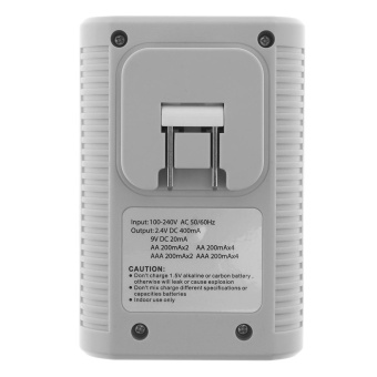 PALO 4 Independent Slots Battery Smart Charger with LED Indicatorfor AA / AAA / 9v / Ni-MH / Ni-Cd Batteries Support DifferentBattery Mixed Charging - intl - 4