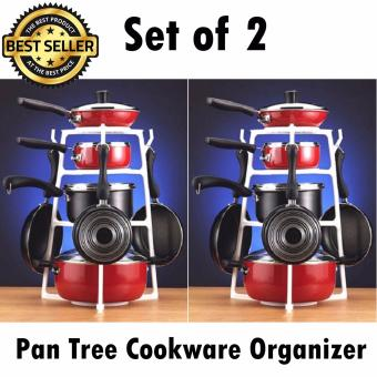 Pan Tree Cookware Stock Pot and Pans Kitchen Organizer Set of 2