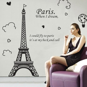 Paris Eiffel Tower Removable Vinyl Art Decal Mural Home Room WallSticker - intl