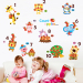 Park children's room cartoon animal number of Apple sticker wall adhesive paper