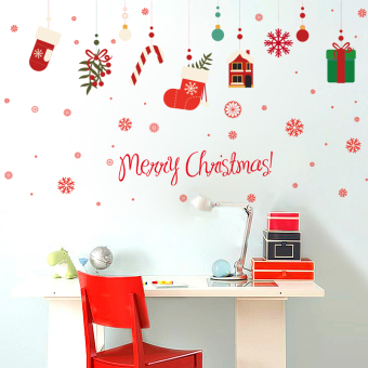 PARK'S shop mall atmosphere decorative wall stickers glass stickers