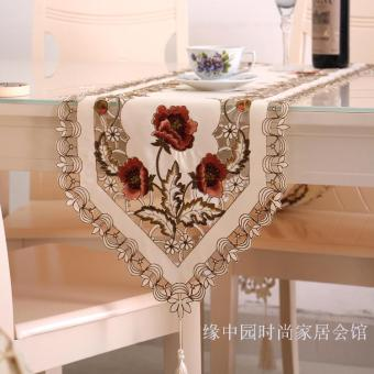 Pastoral embroidered table coffee table towel table flag long mat