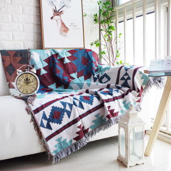 Pattern Geometric Sofa Blanket Sofa Cover
