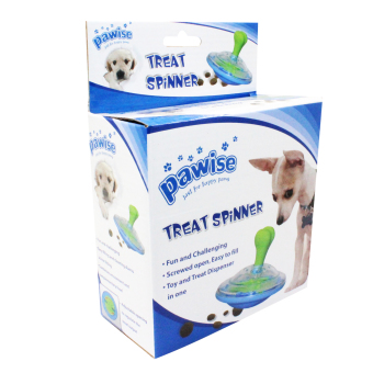 Pawise Twister Treat Spinner Dog Toy (Green)