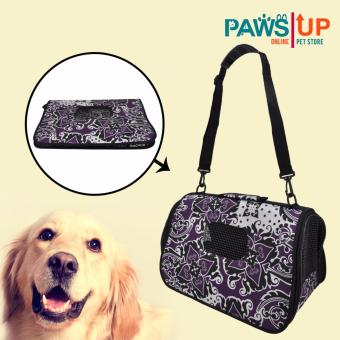 Paws UP Portable Foldable Dog Cat Pet Carrier Travel Bag CageOriental Flower design