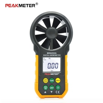 PEAKMETER MS6252A Digital Anemometer Handheld ElectronicWindSpeedAir Volume Measuring Meter LCD Display with Backlight -intl
