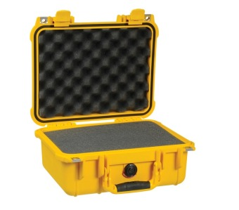 Pelican 1400YLW Small Case with Foam (Yellow)