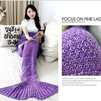 PENNY Crochet Mermaid Tail Blanket, 71x35.5-Inch, Purple - intl Price Philippines