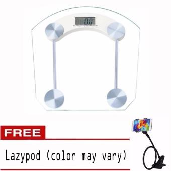 Personal Digital Tempered glass thicker version Weighing Scale withLazypod (color may vary)