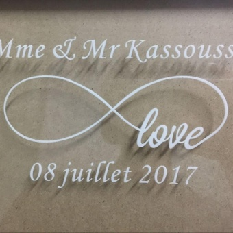 Personalized Wooden Frame wedding Guest Book,Customized Wedding Drop Box with 120 small wood hearts,Wedding Guestbook Gift - 3