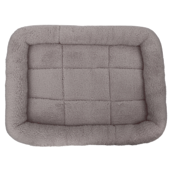 Pet Bed Cushion Mat Pad Dog Cat Cage Kennel Crate Warm Cozy SoftHouse (Grey) (M) - intl