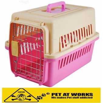 Pet Carrier 1001 Color Pink (48.5cm x 30cm x 31cm) Airline StandardPet Height Up To 30cm For Small Dog and Cat