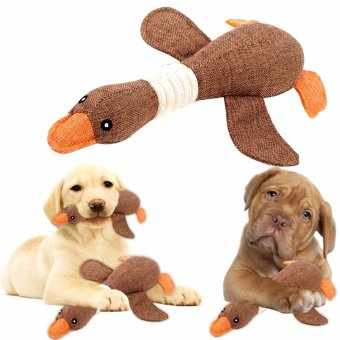 Pet Dog Sound Toys Solid Resistance To Bite color:Brown - intl