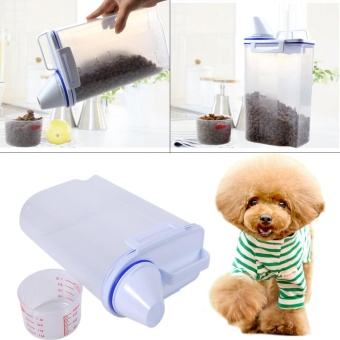 Pet Food Storage Containers Set Dog Cat Dry Food Dispenser EasyPour With Cup Pet Supplies - intl